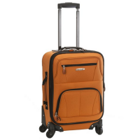 Rockland Luggage 19 Inch Expandable Spinner Carry On - orange